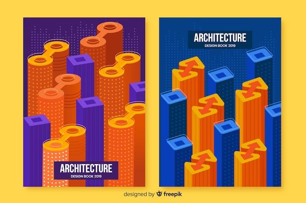 Geometrische ontwerpomslagen met blokken