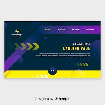 Geometrische paginasjabloon voor bestemmingspagina's