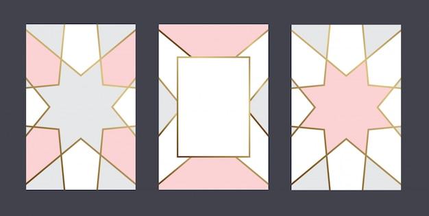 Geometrische pastelkleur kaartsjabloon