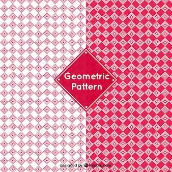 Geometrische patronen in rode tinten