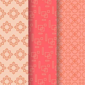 Geometrische patroon collectie concept