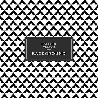 Geometrische patroon driehoek tegel textuur naadloze zwart-wit
