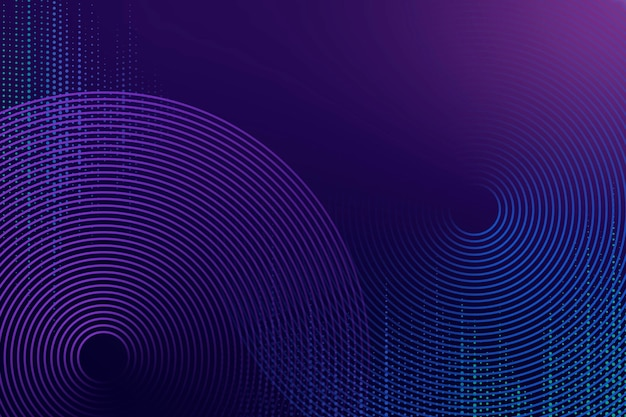 Geometrische patroon paarse technische achtergrond met cirkels