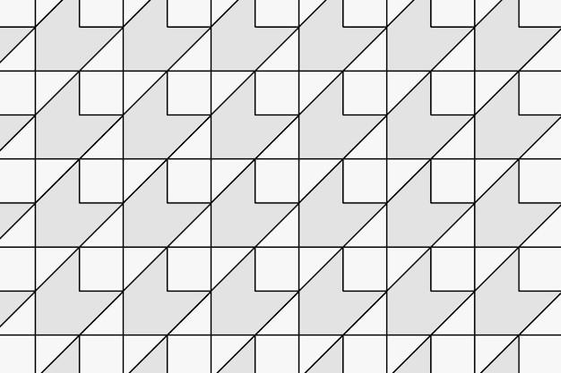 Geometrische patroonachtergrond, abstracte zwart-witte ontwerpvector
