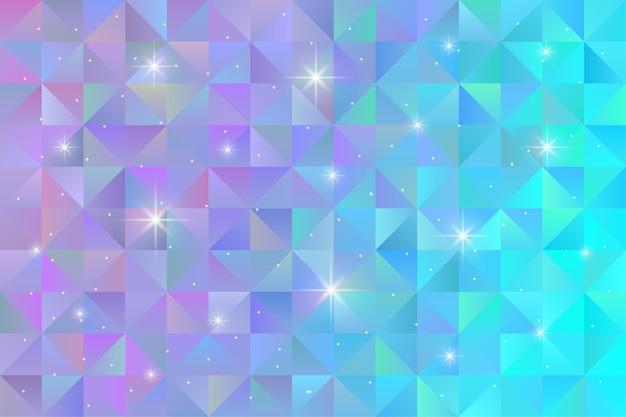 Geometrische patroonachtergrond met geknipperd sterlicht. veelhoek behang