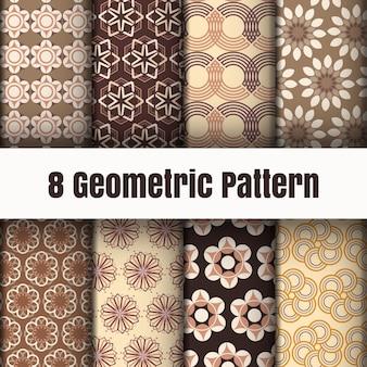 Geometrische patroonbehang achtergrond oppervlaktetexturen