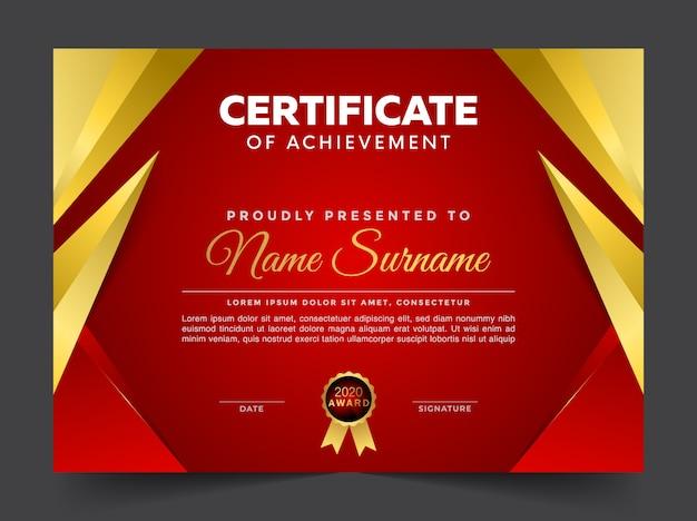 Geometrische premium multifunctionele certificaatsjabloon diploma
