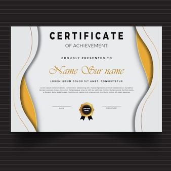 Geometrische premium witte multifunctionele certificaatsjabloon