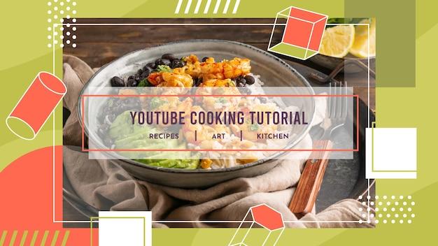 Geometrische recepten youtube channel art