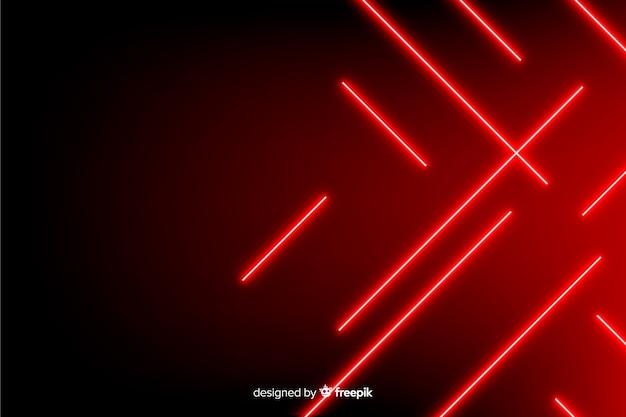 Geometrische rode lichten realistische stijl als achtergrond