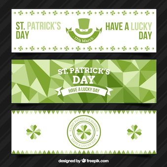 Geometrische st. patrick's day banners