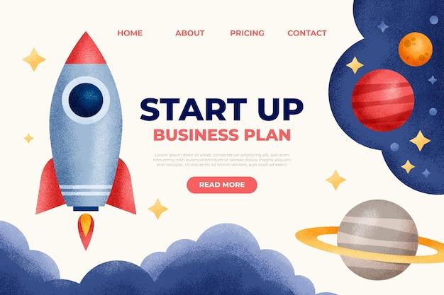 Geometrische start-up bestemmingspagina-sjabloon