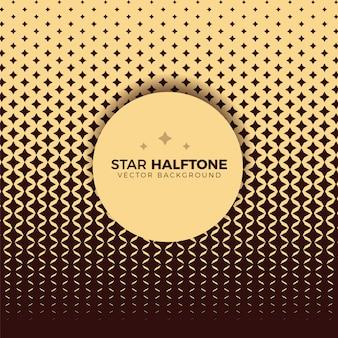Geometrische ster halftoon moderne achtergrond