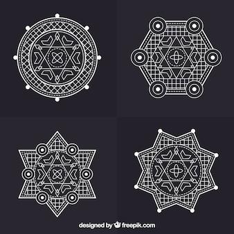 Geometrische sterren tattoo collectie