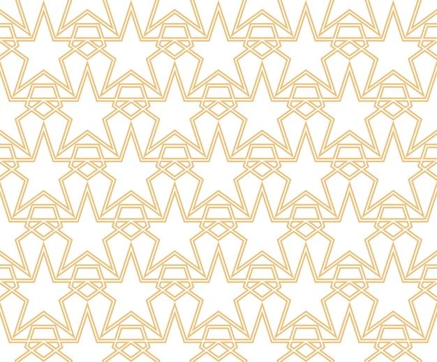 Geometrische sterren vormen naadloze lineaire patronen vectorillustratie