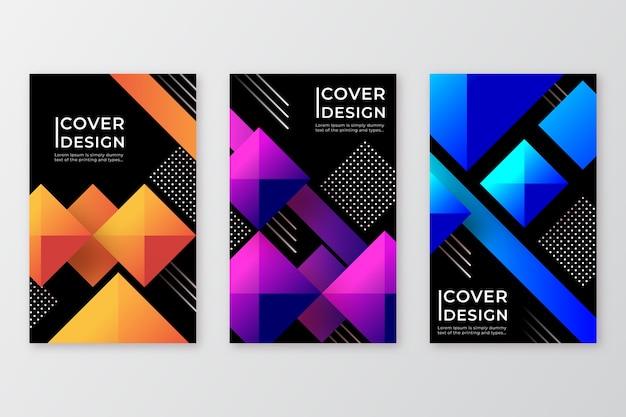 Geometrische stijl verloop vormen covers