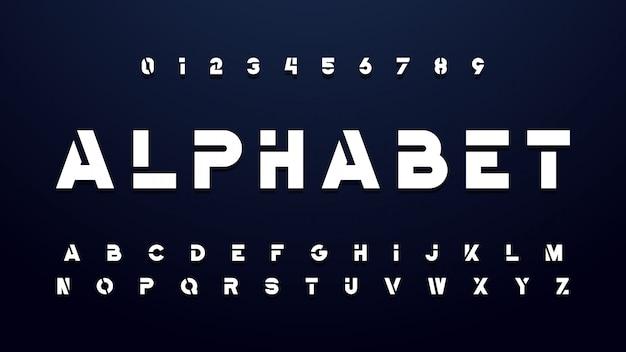 Geometrische technologie vet lettertype