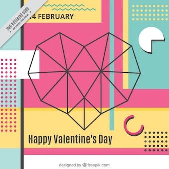 Geometrische valentijnsdag achtergrond
