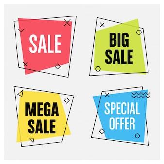 Geometrische verkoop banners