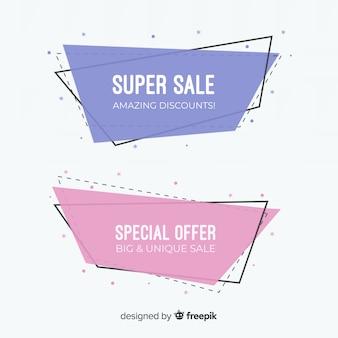 Geometrische verkoopbanners
