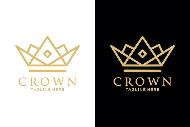 Geometrische vintage creatieve kroon abstracte logo vector ontwerpsjabloon. vintage crown logo royal king queen concept symbool logotype concept icoon.