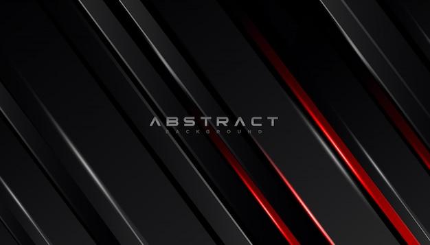 Geometrische vorm futuristische technologie rood zwarte beweging lijn abstracte achtergrond