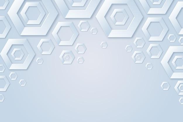 Geometrische vormen achtergrond papierstijl