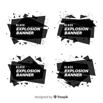 Geometrische vormen banner set