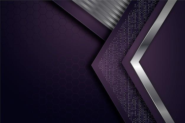 Geometrische vormen behang realistisch ontwerp