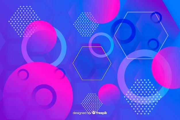 Geometrische vormen in verloopstijl
