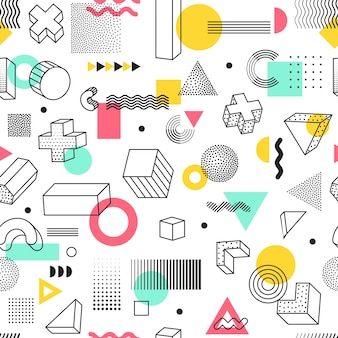 Geometrische vormen naadloze patroon