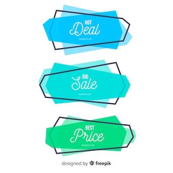 Geometrische vormen verkoop banner