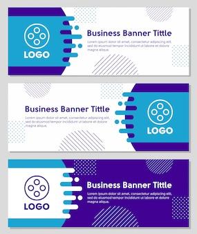 Geometrische vormen zakelijke banner