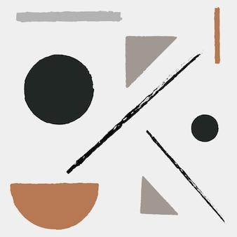 Geometrische vormvector in aardetint
