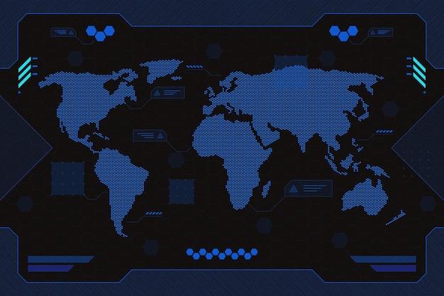 Geometrische wereldkaart achtergrond