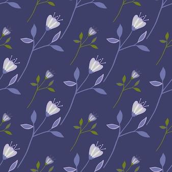 Geometrische wildflower naadloze patroon. abstract botanisch ontwerp. elegant bloemenornament. natuur behang. voor stof, textielprint, verpakking, omslag. vector illustratie