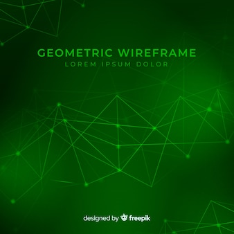 Geometrische wireframe achtergrond