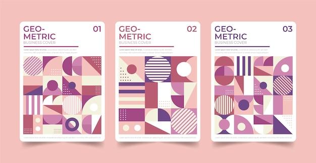 Geometrische zakelijke omslagcollectie