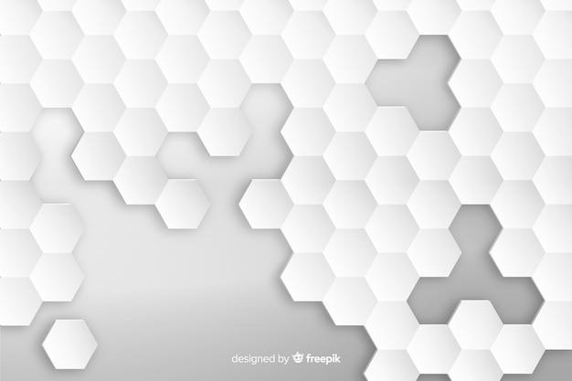 Geometrische zeshoek achtergrond in papierstijl