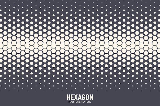 Geometrische zeshoekige halftone textuur abstracte achtergrond