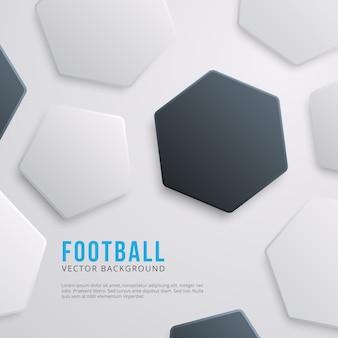 Geometrische zeshoekige voetbal achtergrond