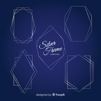 Geometrische zilveren frame-collectie