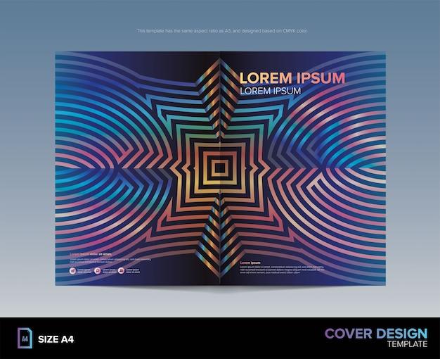 Geometry lijn patroon cover design