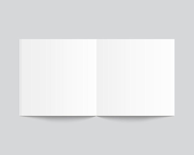 Geopend leeg tijdschrift of boek. sjabloonontwerp.