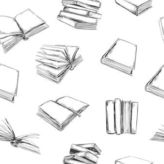 Geopende boeken naadloze patroon