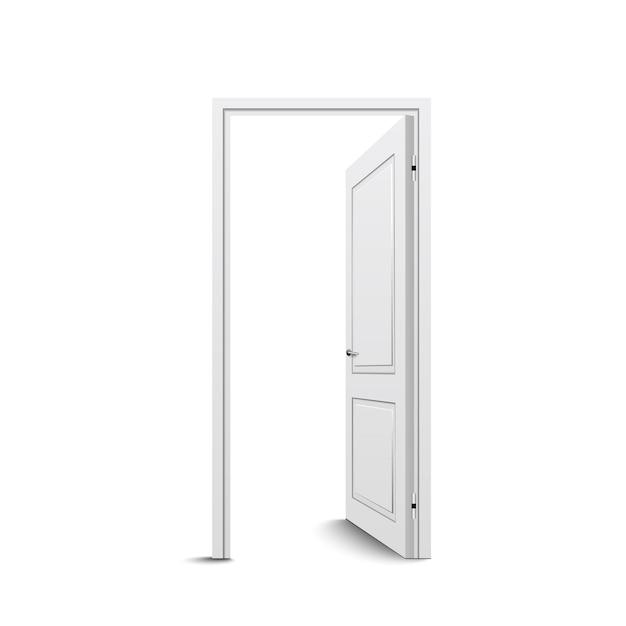 Geopende deur geïsoleerd