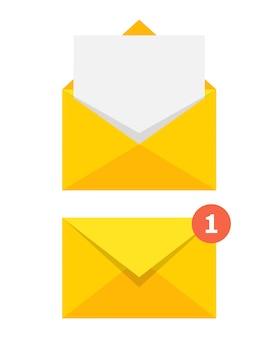 Geopende en gesloten envelop