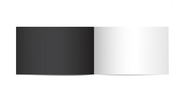 Geopende verticale tijdschrift mock-up