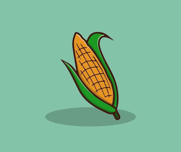 Gepelde maïs hand tekenen illustratie