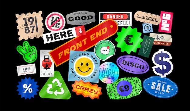 Gepelde papieren stickers